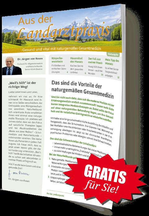 """Gratis für Sie! Buch """"Die Dr. von Rosen-Kur"""""""
